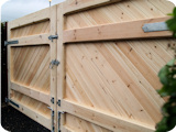 Bespoke wooden gates; extremely heavy duty and built to last decades.