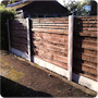 Vertical Turret fence panels are an incredibly heavy duty alternative to traditional waney or feather edge fence panels.