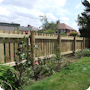 Bespoke garden picket fencing; all pre-treated tanalised heavy duty timber.